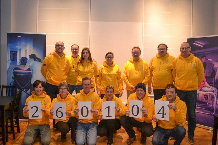 De organisatie van Levensloop maakte woensdagavond het slotbedrag van de voorbije editie bekend.