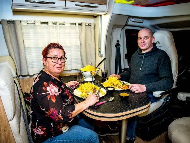Typisch Belgisch: regeling campermeals is pure kafka. Op de parking eten mag niet, op de openbare weg wél