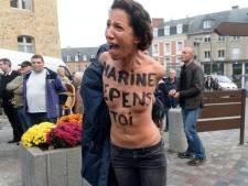 Marine Le Pen prise à partie par des Femen