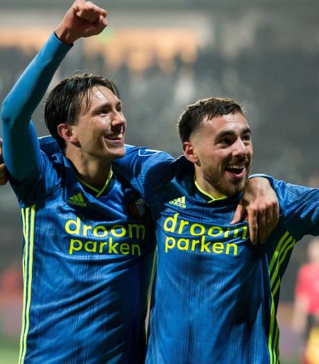 Feyenoord rukt op naar plek drie dankzij sterke start tweede helft