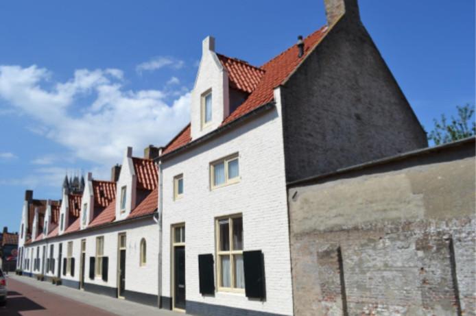 Woningen van Bedaux aan de Zuiddijkstraat in Sluis.