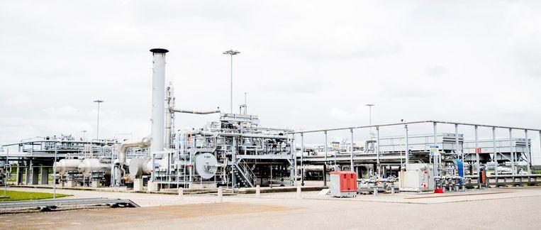 De installatie op het gasveld Loppersum. De productie rond Loppersum werd door de Raad van State helemaal stilgelegd. Beeld anp