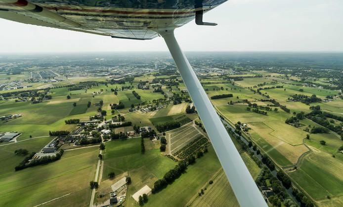 Luchtverkenners van Brandweer Nederland maken een vlucht boven de Hoge Veluwe.