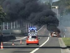Véhicule en feu sur l'E313 à hauteur du viaduc de Boirs: la chaussée est fermée