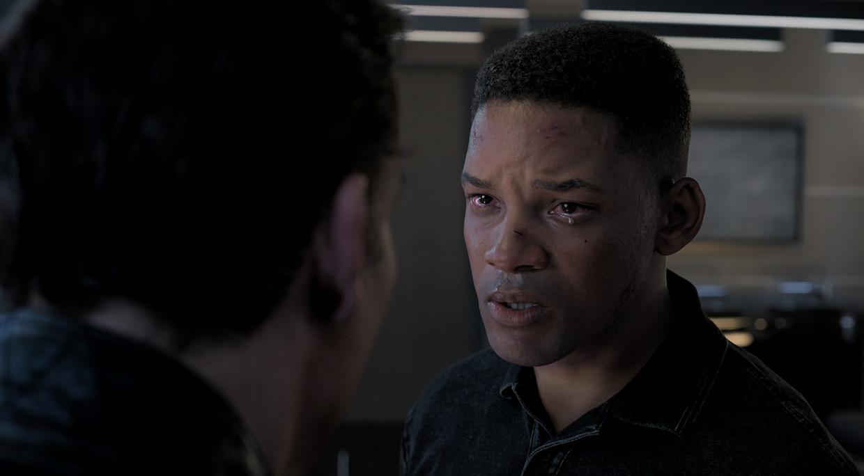 Junior, de 23-jarige kloon van Will Smith - die in de film tegelijk 51 is.