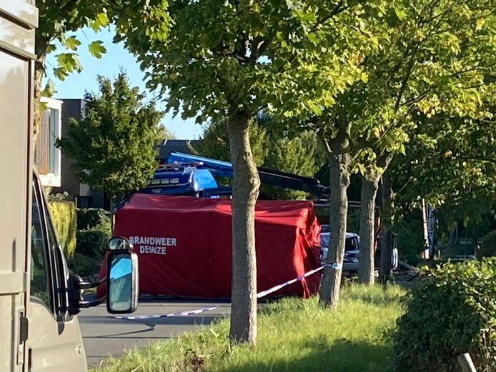 In de Noordhoutstraat in Drongen gebeurde een dodelijk ongeval.