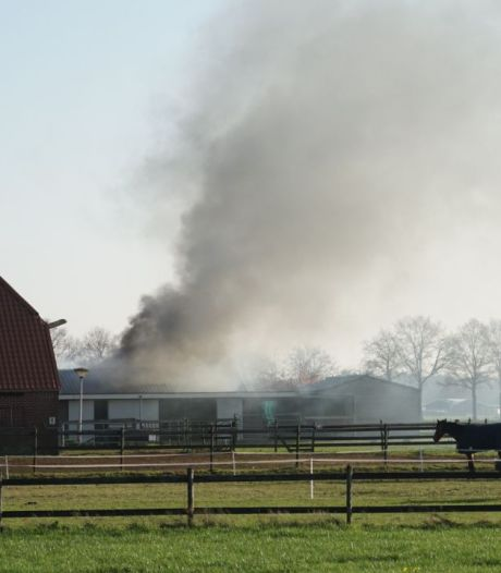 Brand in schuur Broekland door laswerk