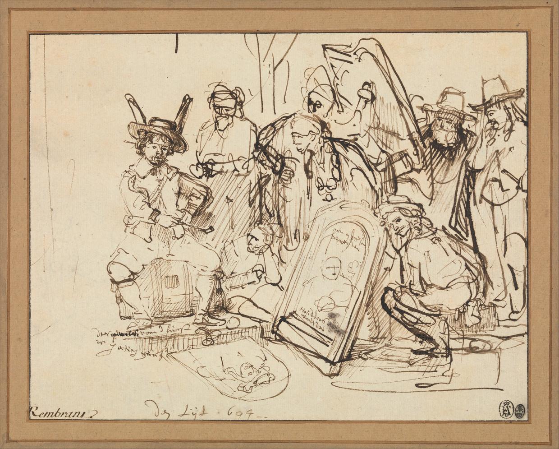 Satire op de kunstkritiek, ca. 1644.