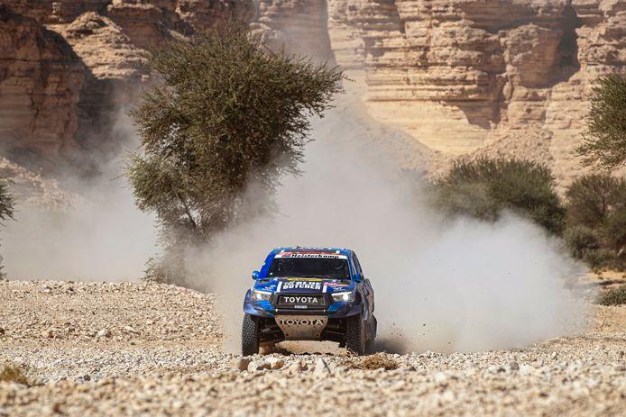 Erik van Loon in actie tijdens de Dakar.