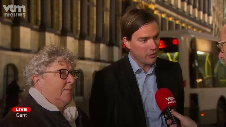 """Mathias De Clercq (Open Vld) en Mieke Van Hecke (CD&V) zien """"geen reden"""" om de coalitiegesprekken met het linkse kartel stop te zetten."""