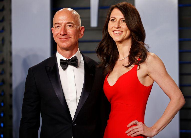 Jeff Bezos en zijn vrouw MacKenzie Bezos in gelukkiger tijden.