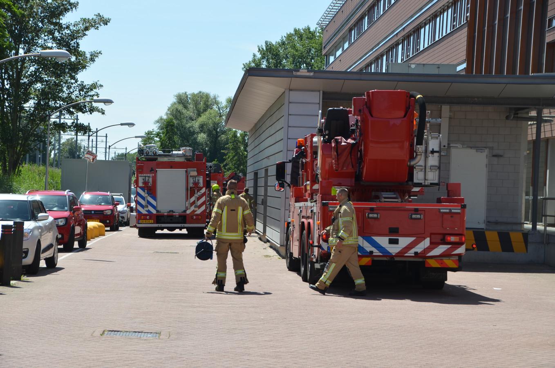 Het vuur ontstond in een droger in de wasserij van het ziekenhuis.
