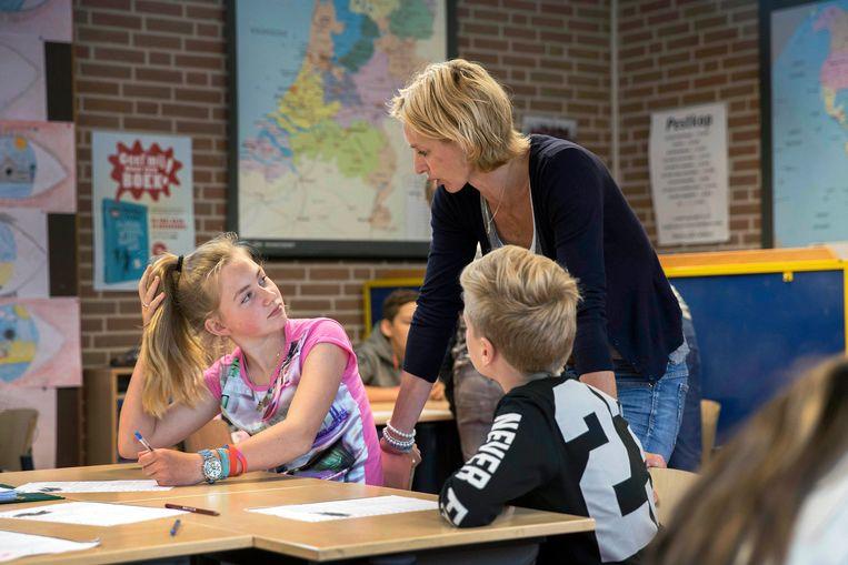 Het dagelijks leven op de rooms-katholieke basisschool It Klímmerblêd. Beeld Werry Crone