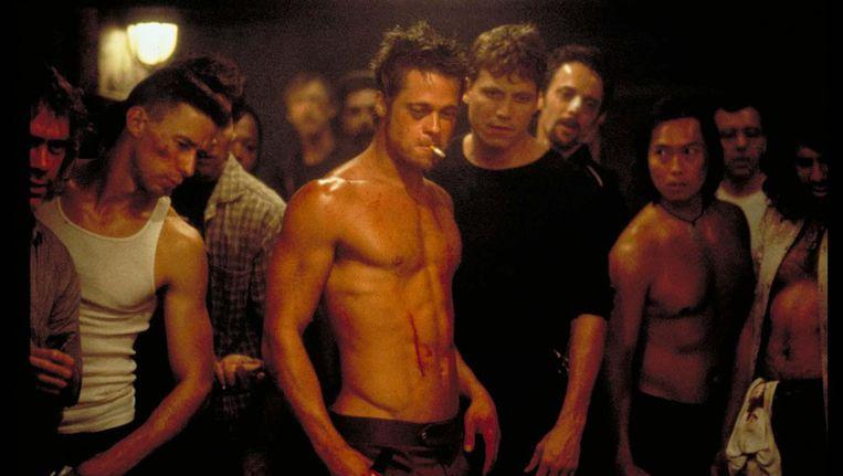 Brad Pitt in Fight Club. Beeld null