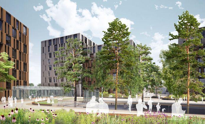 Een toekomstbeeld van de Breda City Campus.