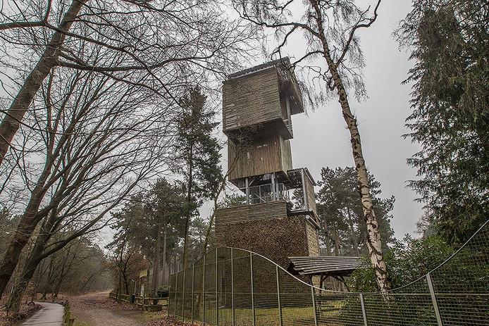 De oude brandtoren in Reusel