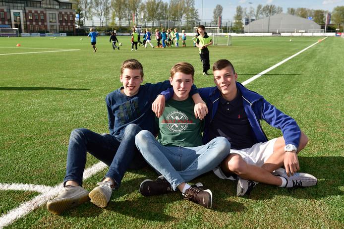 Mees Breedveld (links), Emiel Gerritsen (midden) en Rick Hammer.