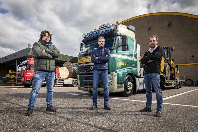 """Arjan Giesbers,  Martijn Knobbe en Danny Hazelhorst blijven rijden op Italie. """"Er is bijna geen auto meer op de snelweg."""""""