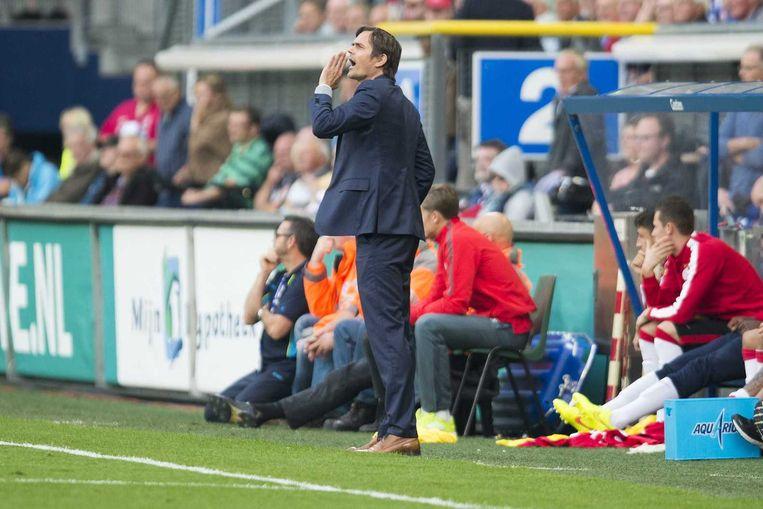 Phillip Cocu tijdens de wedstrijd tegen Heerenveen. Beeld anp