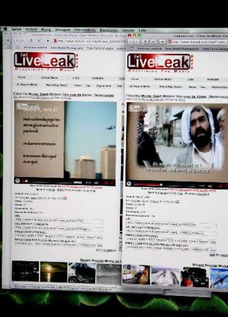 De Engelstalige versie van Fitna werd op LiveLeak al meer dan 3 miljoen keer bekeken.