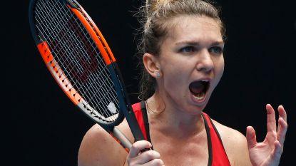 Halep wint match met meeste aantal games ooit op Australian Open
