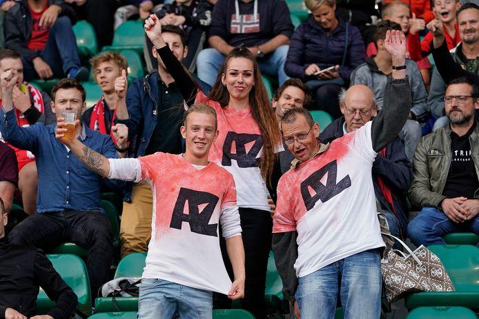 AZ-supporters blijven hun club trouw.