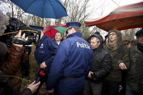 Meerder malen kwam het bij acties tot confrontaties met de politie.