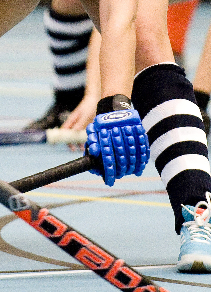 Zaalhockey stockfoto.
