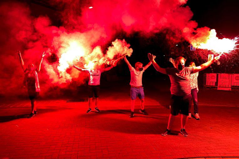 Dat verdient even ontlading in coronatijden: grote vreugde bij de fans van Antwerp.
