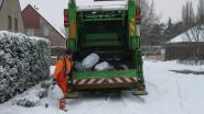 Vuilniswagens rijden niet uit door sneeuw