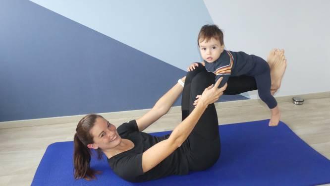 Ex-atlete Marlien (29) laat mama's fitnessen met hun boreling