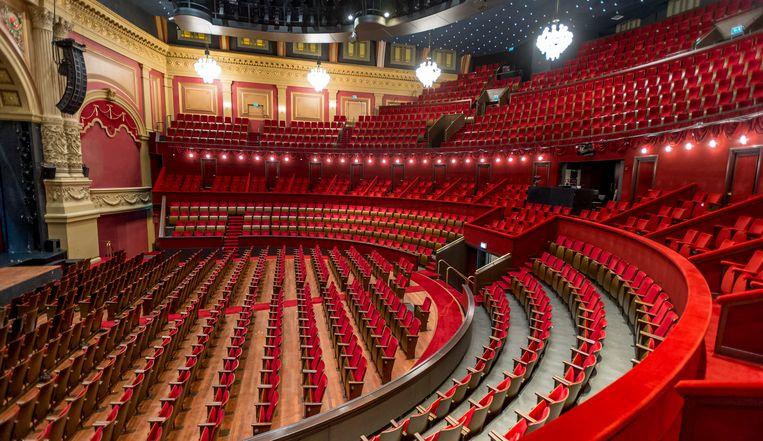 De theaterzaal van Koninklijk Theater Carre stond maanden leeg door het coronavirus. Beeld ANP Kippa
