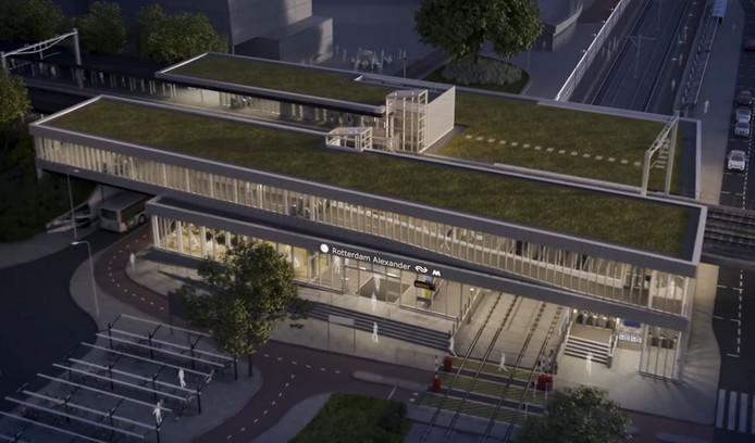 Het vernieuwde station Rotterdam-Alexander.