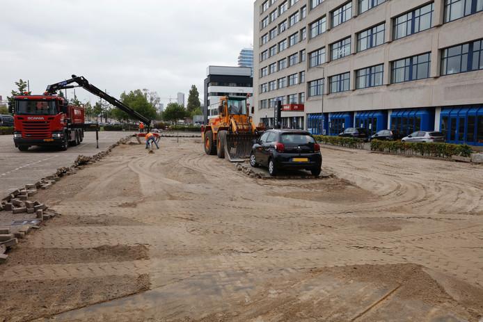Werkzaamheden parkeerplaats Strijp-S.