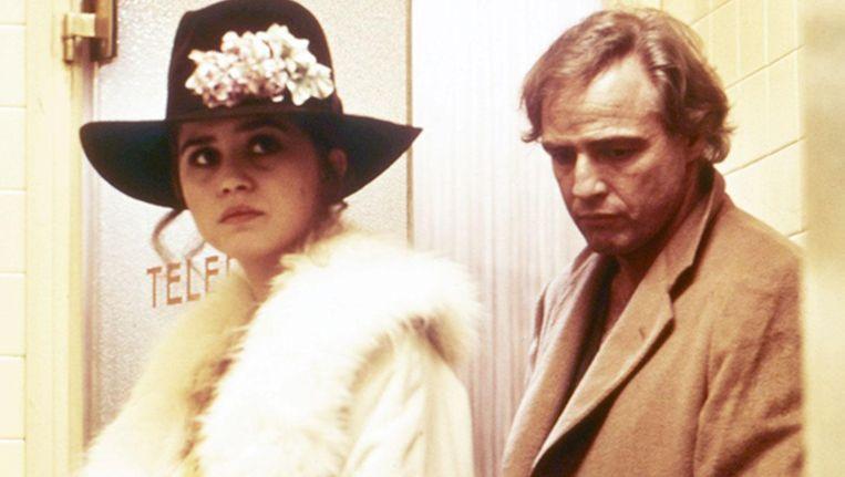 Maria Schneider en Marlon Brando in Last Tango in Paris. Beeld