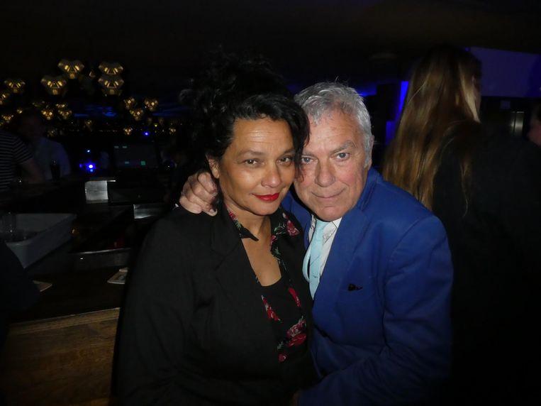 Acteur Hans Dagelet en violiste Esther Apituley, de prom king en queen van elk filmfeest in deze stad Beeld Schuim
