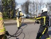 Brand naast winkelcentrum Hasselo in Hengelo