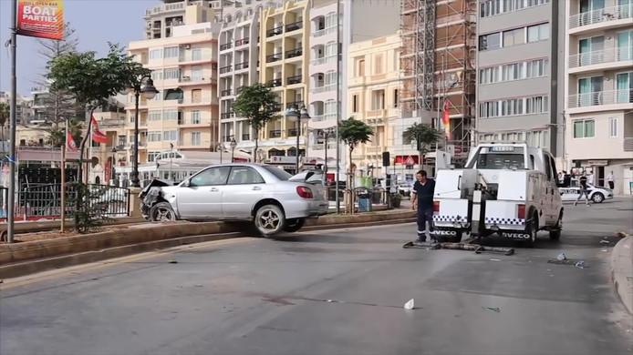 Beelden van na het ongeluk op Malta.