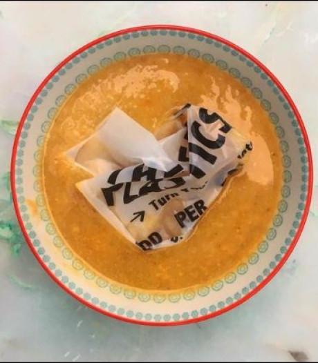 Straks zit er een 'plastic' tas in je kommetje soep
