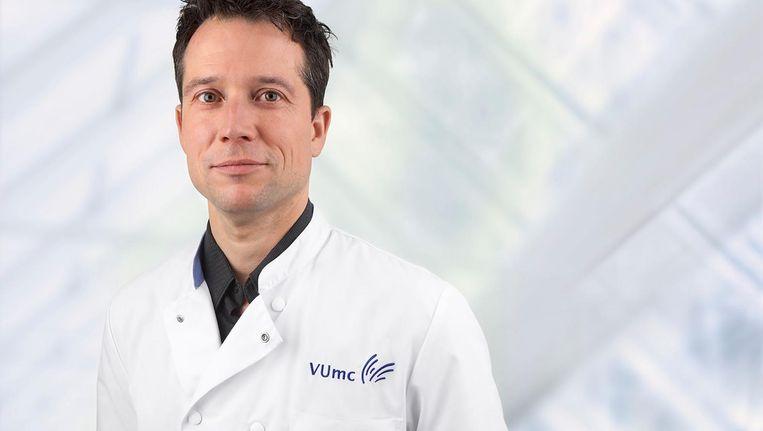 Tim de Meij. De kinderarts van Amsterdam UMC leidt het onderzoek Beeld VUmc
