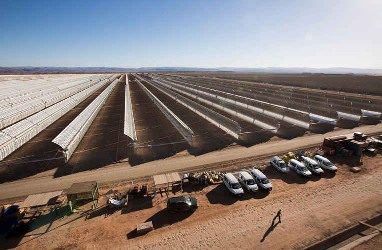 De Noor-zonnespiegelcentrale in Ouarzazate, Marokko Beeld Hollandse Hoogte / Eyevine