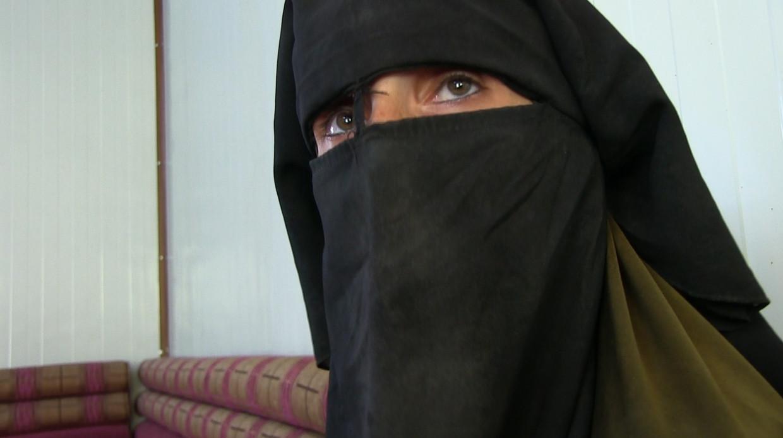 Krista in het Syrische kamp Al Hol, Krista waar ze met vier kinderen zit