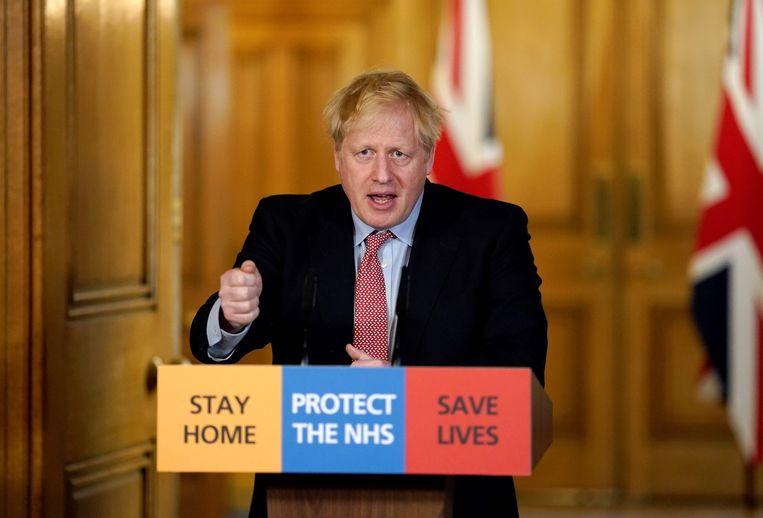 'Johnson toonde zich aanvankelijk laconiek.' Beeld AFP