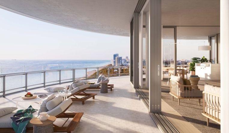 Balkon met panoramisch uitzicht.