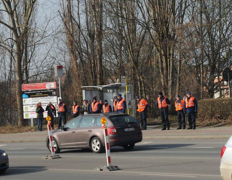 Drugscontrole van de Vilvoordse politie op het openbaar vervoer eerder dit jaar.