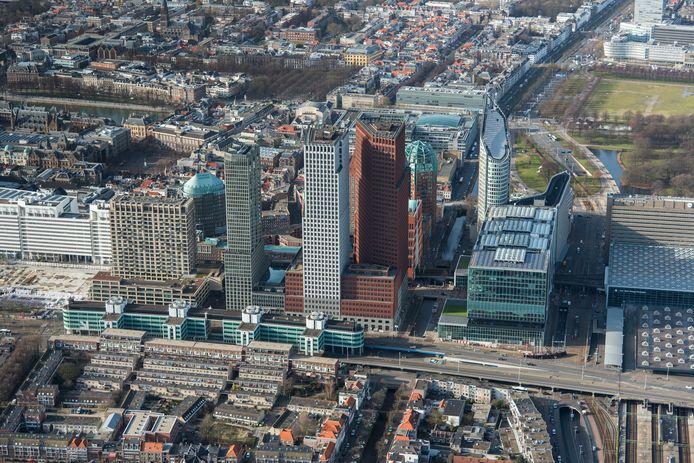Luchtfoto van Den Haag, ter illustratie.
