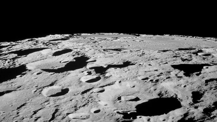 Israël had donderdagavond het vierde land op de maan kunnen worden, maar lander Beresheet crashte tijdens de laatste nadering van onze kosmische buurman.  Beeld NASA