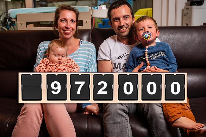 Portrait de famille. Pia a récolté le montant nécessaire pour son traitement