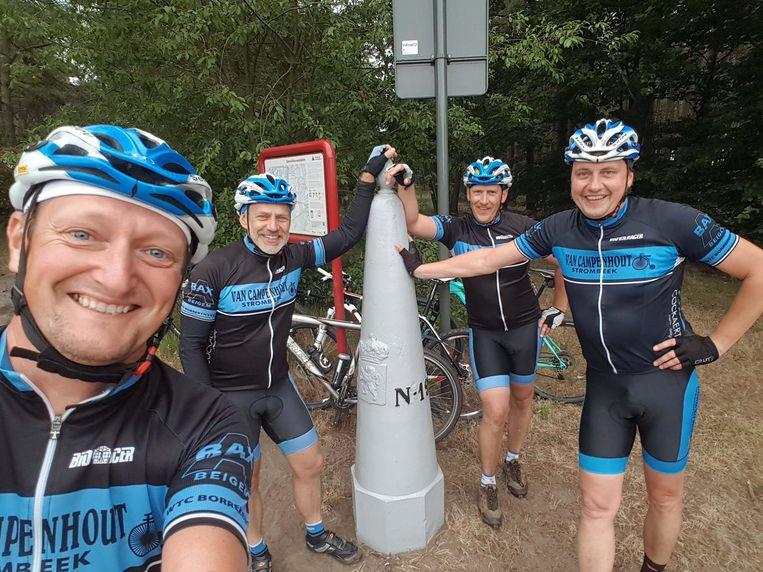 Frank, Alain, Fred en Marc vormen samen 'Team Borrekens'.