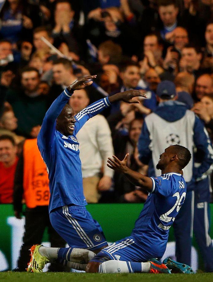 Demba Ba en Samuel Eto'o waren in 2014 kortstondig ploegennoten bij Chelsea.